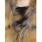 Faux Fur Chinese Button Padded Coat photo