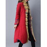 Faux Fur Chinese Button Padded Coat deal