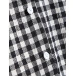 Hooded Button-Down Plaid Blouse for sale