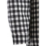 best Hooded Button-Down Plaid Blouse