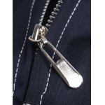 Stand Collar Suture Design Zip-Up Jacket deal