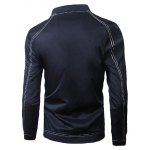 cheap Stand Collar Suture Design Zip-Up Jacket