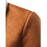 Shawl Collar Patch Pocket Plush Lining Longline Coat for sale