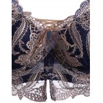 Padded Push Up Embroidered Bra Underwear Set for sale