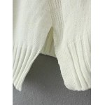 best Vintage Slit Ribbed Knitted  Sweater
