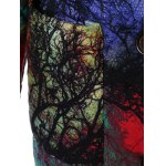Hooded Tree Print Plus Size Coat for sale