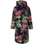 cheap Hooded Floral Printed Plus Size Coat