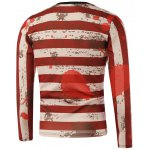 cheap American Flag Print Splatter Paint Sweatshirt