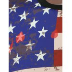 American Flag Print Splatter Paint Sweatshirt deal