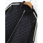 Diamond-Pattern Embroidered  Padded Jacket deal