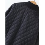 Diamond-Pattern Embroidered  Padded Jacket for sale