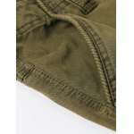 best Zipper Fly Pockets Embellished Straight Leg Basic Cargo Pants