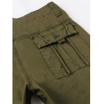 Zipper Fly Pockets Embellished Straight Leg Basic Cargo Pants for sale