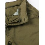 Zipper Fly Pockets Embellished Straight Leg Basic Cargo Pants deal