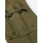 Zipper Fly Pockets Embellished Straight Leg Basic Cargo Pants photo