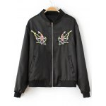 Fish Embroidered  Bomber Jacket