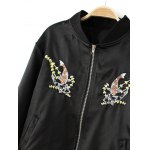 Fish Embroidered  Bomber Jacket deal