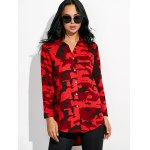 cheap Camouflage Loose Shirt