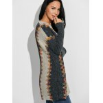 cheap Jacquard Ethnic Style Loose Cardigan
