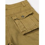 Pockets Design Straight Leg Cargo Pants for sale