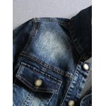 Multi-Pocket Distressed Long Sleeve Denim Jacket deal