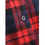 Hooded Plaid Button Up Coat for sale