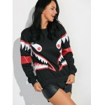 Shark Mouth Graphic Sweatshirt deal