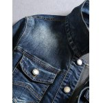 Multi-Pocket Letter Print Denim Jacket deal