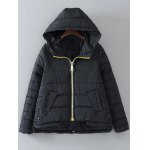 Hooded Drawstring Quilted Jacket