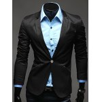 Notch Lapel Breasted Pocket One-Button Blazer deal
