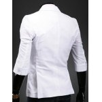 Three Quarter Sleeve Notch Lapel Back Double Vent Blazer deal