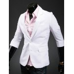 cheap Three Quarter Sleeve Notch Lapel Back Double Vent Blazer