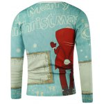 cheap Merry Christmas Printed Long Sleeve Sweatshirt