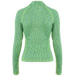 cheap Half-zip Heathered Topstitched Long Sleeve Gym Top