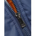 cheap Stand Collar Zipper-Up Pocket Thermal Jacket