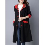 cheap Vintage Chinese Button Hooded Coat