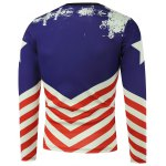 cheap American Flag Pentagram Printed Long Sleeve Sweatshirt