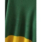 Color Spliced Furcal Pullover Sweater deal