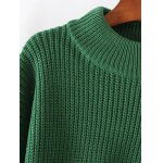cheap Color Spliced Furcal Pullover Sweater