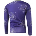 cheap Star Printed Crew Neck Long Sleeve Sweatshirt