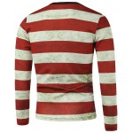 cheap American Flag Stripe Printed Crew Neck Long Sleeve Sweatshirt