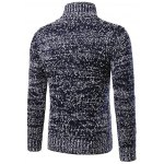 cheap Heathered Turtleneck Texture Pullover Sweater