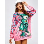 cheap Long Cartoon Loose Sweatshirt