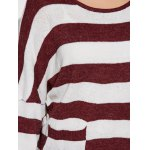 Scoop Neck Striped Color Block Sweater for sale