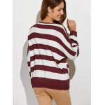 Scoop Neck Striped Color Block Sweater deal