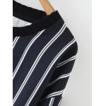 Pullover Striped Splicing Sweatshirt deal