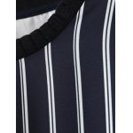 Pullover Striped Splicing Sweatshirt for sale