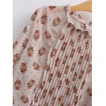 Vintage Pleated Tiny Floral Chiffon Blouse deal