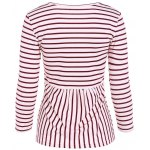 cheap Scoop Neck Striped Back Patchwork T-Shirt