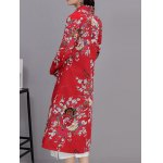 Vintage Floral Print Long Coat deal